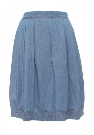 Юбка джинсовая Sela. Цвет: голубой