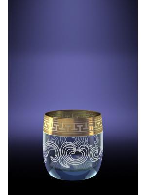 Набор 6 стаканов для виски с рисунком Греческий узор Гусь-Хрустальный. Цвет: прозрачный