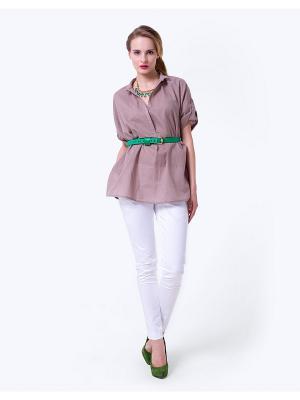Блузка LO. Цвет: темно-бежевый