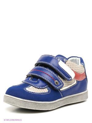 Ботинки Kakadu. Цвет: синий, кремовый