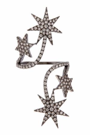 Кольцо с кристаллами Herald Percy. Цвет: серебряный