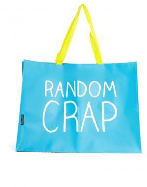 Happy Jackson Сумка среднего размера Random Crap. Цвет: синий