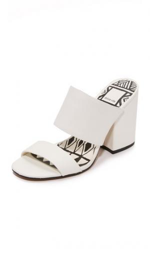 Туфли без задников Elize Dolce Vita. Цвет: белый