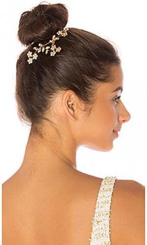 Гребень для волос violet Jennifer Behr. Цвет: металлический золотой