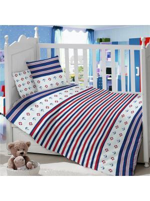 Комплект постельного белья ДЕТСКИЙ Dream time. Цвет: белый, синий, красный