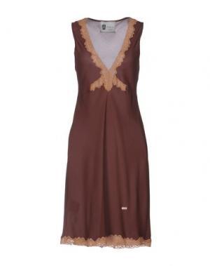 Платье до колена ANIYE BY. Цвет: какао
