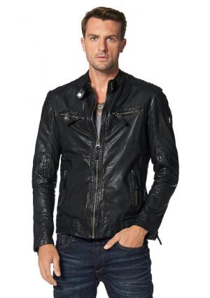 Кожаная куртка Maze. Цвет: черный