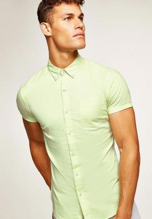Рубашка Topman. Цвет: желтый