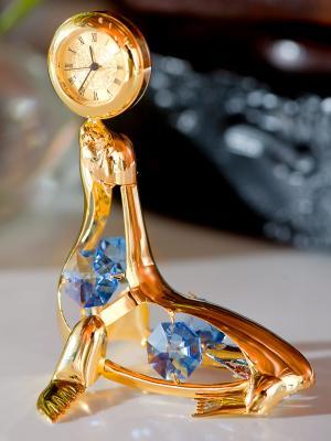 Фигурка с часами Тюлень Юнион. Цвет: золотистый, фиолетовый