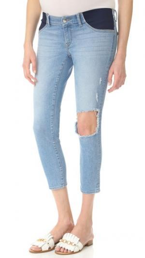 Укороченные джинсы для беременных Florence DL1961. Цвет: clifton