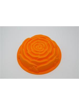 Форма силиконовая 25x7,5см, Роза. Vetta. Цвет: желтый