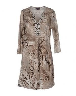 Короткое платье HALE BOB. Цвет: голубиный серый