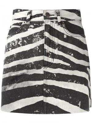 Мини-юбка с зебровым принтом Marc Jacobs. Цвет: серый