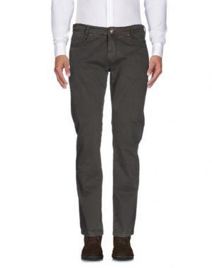 Повседневные брюки B SETTECENTO. Цвет: темно-зеленый