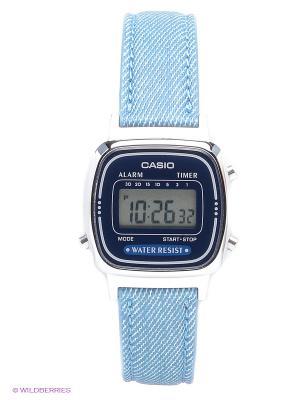 Часы Casio LA670WEL-2A2. Цвет: серебристый, синий