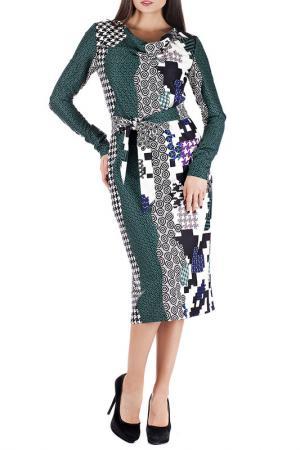 Платье Mannon. Цвет: черно-зеленый