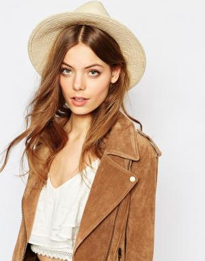 Becksondergaard Соломенная шляпа-федора. Цвет: бежевый