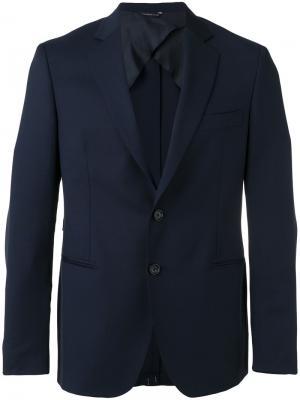 Пиджак с заостренными лацканами Tonello. Цвет: синий
