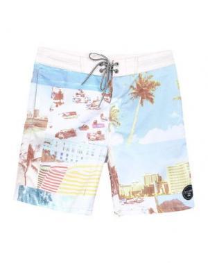 Пляжные брюки и шорты BILLABONG. Цвет: бежевый