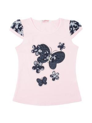 Футболка для девочки 7 одежек. Цвет: розовый