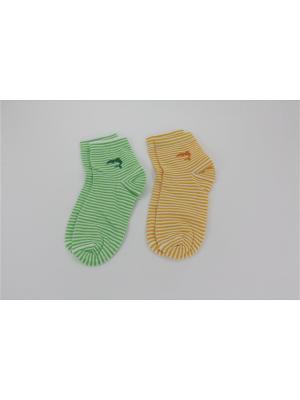 Носки, 2 пары Гамма. Цвет: салатовый, желтый