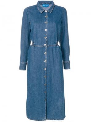Платье Lou Mih Jeans. Цвет: синий