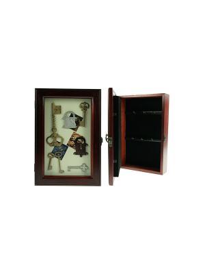 Коллаж-ключница Ключики Русские подарки. Цвет: коричневый