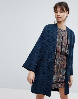 D.RA Кардиган-кимоно. Цвет: синий