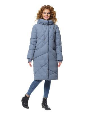 Пальто D`imma. Цвет: серо-голубой