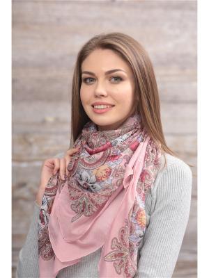 Платок FOMAS. Цвет: розовый, бордовый
