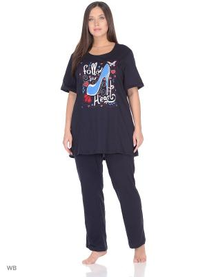Костюм домашний (футболка, штаны) ИП Кузнецов Д.В.. Цвет: темно-синий