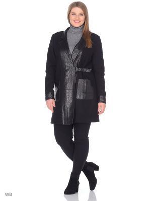 Пальто SARTORI DODICI. Цвет: черный