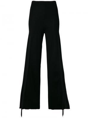 Трикотажные брюки палаццо Circus Hotel. Цвет: чёрный