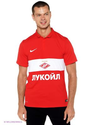Футболка-поло SPARTAK SS HA STADIUM JSY Nike. Цвет: красный