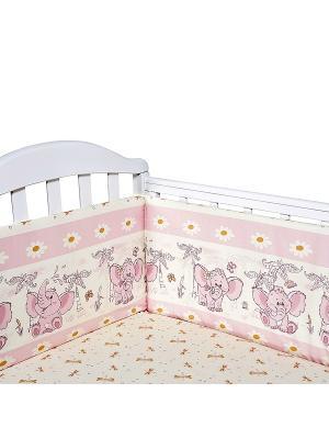 Бортик для кроватки Baby Nice. Цвет: розовый