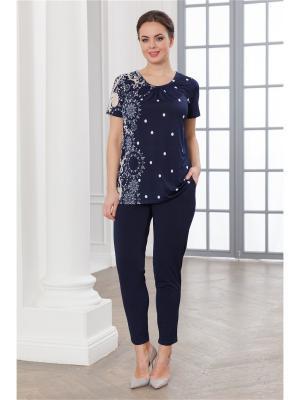 Комплект одежды CLEO. Цвет: темно-синий, бежевый