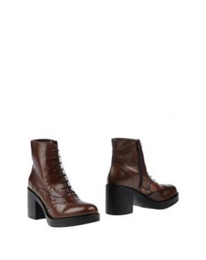 Полусапоги и высокие ботинки ELIANA BUCCI. Цвет: темно-коричневый