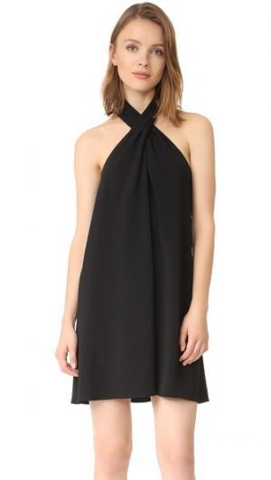 Платье с воротником Cross Amanda Uprichard. Цвет: голубой