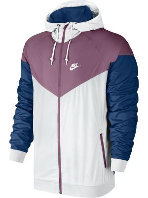 Ветровка M NSW WINDRUNNER Nike. Цвет: белый, темно-синий, фиолетовый