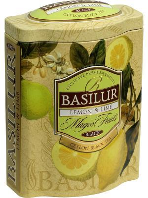 Чай Basilur ВОЛШЕБНЫЕ ФРУКТЫ  Лимон и лайм. Цвет: черный