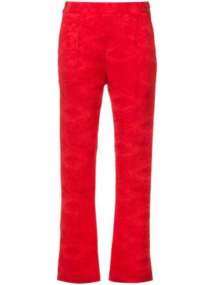 Textured finish trousers Rosie Assoulin. Цвет: красный