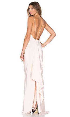 Вечернее платье с драпировкой сзади JILL STUART. Цвет: розовый