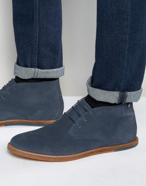 Frank Wright Темно-синие замшевые ботинки чукка Strachan. Цвет: синий