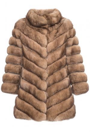 Шуба из баргузинского соболя 181557 Romagna Furs. Цвет: коричневый