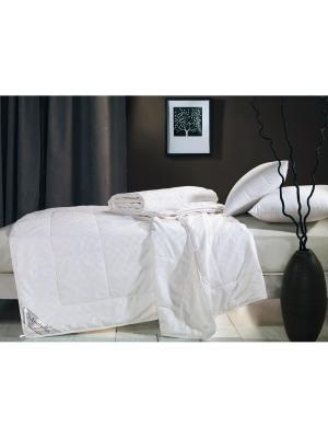 Одеяло натур. шёлк в сатин. чехле, 1,5-спальное 155х215, всесезонное, вес 1835 гр. Asabella. Цвет: белый