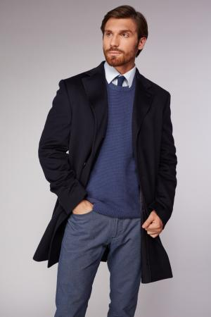 Мужское пальто  темно-синего цвета Heresis. Цвет: темно-синий