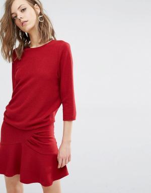 BA&SH Платье Isla. Цвет: красный