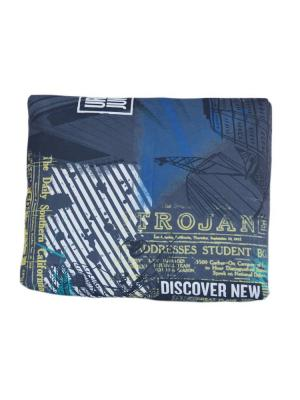 Декоративная подушка Городские Джунгли с темно-серым компаньоном LACCOM. Цвет: синий