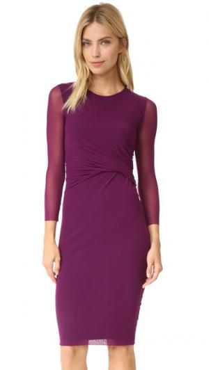 Платье с рукавами три четверти Fuzzi. Цвет: фиолетовый
