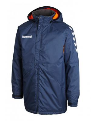Куртка TEAM PLAYER BENCH  JACKET HUMMEL. Цвет: синий